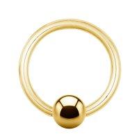 Piercing Klemmring - Stahl - Gold