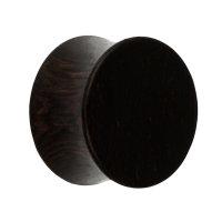 Holz Ohr Plug - Schwarz