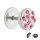 Piercing Fake Plug - Silber - Kristall - Pink