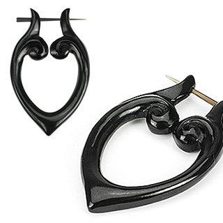 Horn Ohrringe - Schwarz - 06