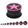 Silikon Plug - Schwarz - Stern Pink
