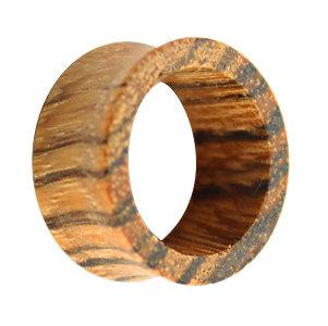 Holz Flesh Tunnel - Braun - Zebrano
