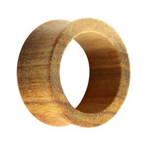 Holz Flesh Tunnel - Braun - Canary Wood