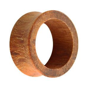 Holz Flesh Tunnel - Braun - Granadillo