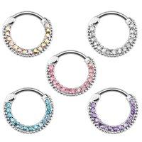 Septum Klicker - Ring - Silber - Kristalle - Classic