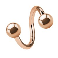 Piercing Spirale - Stahl - Rosegold
