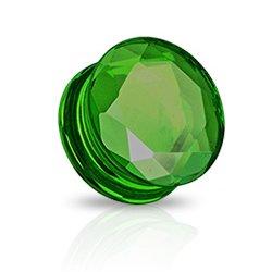 Glas Kristall Plug - grün