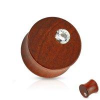 Holz Plug - Rotholz - Kristall