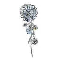 Kristall Plug - Silber - Blume - Anhänger
