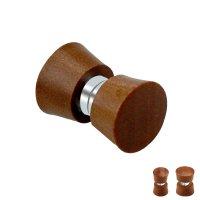 Magnet Fake Plug - Holz - Braun