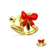 Piercing Stab - Gold - Kurz - Glocken