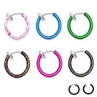 Fake Piercing - Ring - Farbspritzer