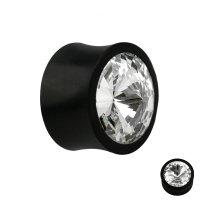 Holz Plug - Schwarz - Kristall