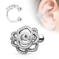 Ear Cuff - Silber - Rose