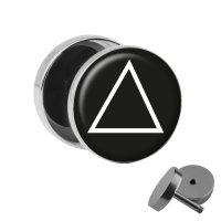 Motiv Fake Plug - Dreieck - Weiß