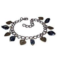 Armband - Bronze - Herzen - Perlen