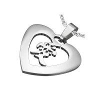 Anhänger - Silber - Herz - Chinesisches Zeichen