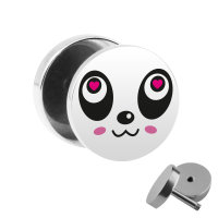Motiv Fake Plug - Panda Gesicht