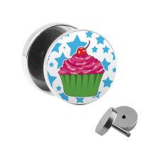 Motiv Fake Plug - Cupcake - Sterne
