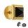 Piercing Fake Plug - Gold - Kristall - Schwarz