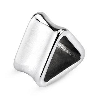 Flesh Tunnel - Stahl - Silber - Dreieck
