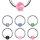 Piercing Klemmring - Silber - Glitter