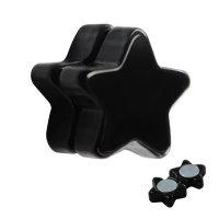 Magnet Fake Plug - Schwarz - Stern