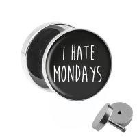 Motiv Fake Plug - I Hate Mondays - Schwarz