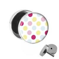Motiv Fake Plug - Polka Dots - Bunt