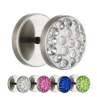 Piercing Fake Plug - Silber - Titan - Schutzschicht -...