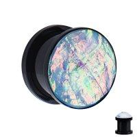 Kristall Plug - Kunststoff - Schwarz - Opalith