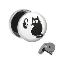 Motiv Fake Plug - Katze und hängendes Seepferdchen
