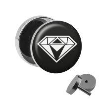 Motiv Fake Plug - Diamant - Weiß