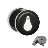 Motiv Fake Plug - Glühbirne - Weiß
