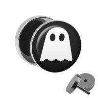Motiv Fake Plug - Gespenst - Weiß