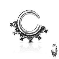 Schnecke - Stahl - Silber - Herz-Ornament