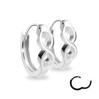 Creolen Ohrringe - 925 Silber - Unendlichkeit