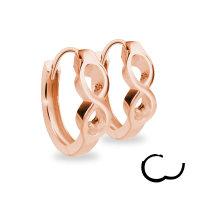 Creolen Ohrringe - 925 Silber - Unendlichkeit - Rosegold