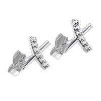 Ohrstecker - 925 Silber - X - Kristalle
