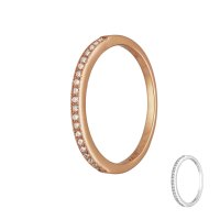 Ring - 925 Silber - Schmal - Kristalle