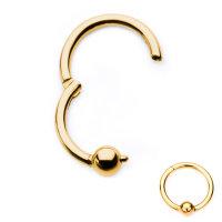 Segmentring Piercing - Klicker - Segmentklicker - Gold -...