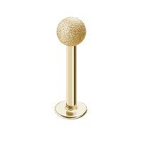 Piercing Labret - Stahl - Diamant - Gold