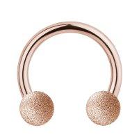 Piercing Hufeisen - Stahl - Diamant - Rosegold