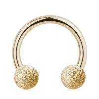 Piercing Hufeisen - Stahl - Diamant - Gold