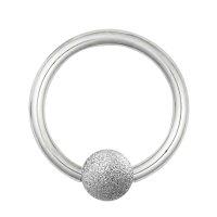 Piercing Klemmring - Stahl - Diamant - Silber