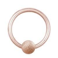 Piercing Klemmring - Stahl - Diamant - Rosegold