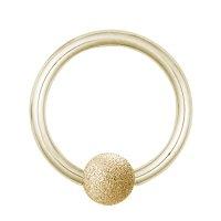 Piercing Klemmring - Stahl - Diamant - Gold