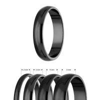 Ring - 925 Silber - Glänzend - 4 Breiten - Schwarz