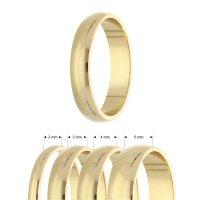 Ring - 925 Silber - Glänzend - 4 Breiten - Gold