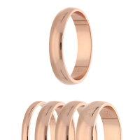 Ring - 925 Silber - Glänzend - 4 Breiten - Rosegold